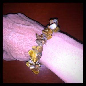 Tiger Eye Healing Crystal Stretch bracelet Natural